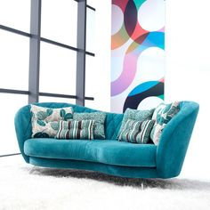 Vibrant Colors, Colours, Sofa, Couches, Soft Furnishings, Throw Pillows, Shopping, Bed, Furniture