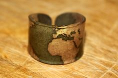 World map ring, very cute!