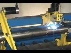 PlasmaCAM CNC plasma cutting machine cutting pipe using optional attachment. Tube size range is to Tubing length is unlimited through ind. Cnc Plasma, Plasma Cutting, Milling Machine, Cnc Router, Science And Technology, Welding, Metal Art, Workshop, Steel