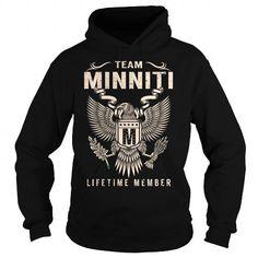 I Love Team MINNITI Lifetime Member - Last Name, Surname T-Shirt Shirts & Tees