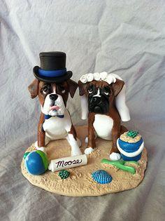 Boxer Beach Wedding Cake Topper