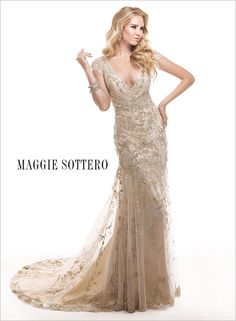 Wedding Dress Wedding Dresses Bridal Gown Bridal Gowns couture beaded organza tulle lace strapless ivory pink champagne gold bling great gatsby vintage corset Maggie Sottero Sottero and Midgley designer wedding dresses Tuscany Great Gatsby