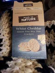 Back to Nature White Cheddar Rice Crackers....delicious :)