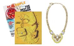 Real Simple - July 2014 featuring the Norah Pendant Necklace by Stella & Dot