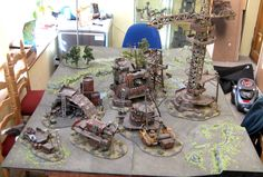 George Dellapina's Ork Gargant Assembly Site Terrain [Very pic heavy] - Forum - DakkaDakka | Who comes up with this stuff anyways?