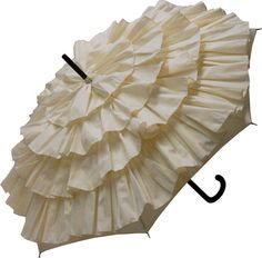 A frilly umbrella to keep off the rain!