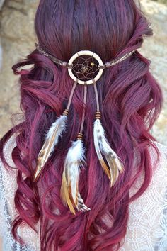 Cream Brown Dreamcatcher Headband #A1017 – VividBloom