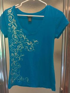 Bleach Painted Shirt. Handpainted using a Brush & Bleach not a Bleach Pen. Highlighted with some Glitter Paint.