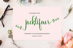 Jacktifour is a gorgeous and well balanced hand written font. This font is calligraphy inspired, and will add a certain sophistication and intrigue to your designs. Handwritten Fonts, Typography Fonts, New Fonts, Lettering, Script Fonts, Business Brochure, Business Card Logo, Font Combos, Poster Fonts