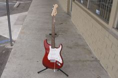 Red Fender Squier Strat Affinity Series s/n ICS11151695 #Squier