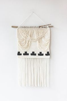 Crescent Draped Woven Wall Hanging