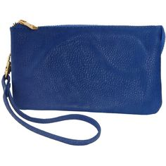 Humble Chic NY Vegan Leather Wristlet Wallet Clutch ($24) ❤ liked on Polyvore featuring bags, handbags, clutches, royal blue, wristlets, blue clutches, synthetic leather handbag, blue purse, wristlet handbags and faux leather purses