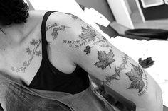 """Gefällt 356 Mal, 5 Kommentare - Michi Shaw (@michi_shaw) auf Instagram: """"Ahornblätter. Heute gestochen. #realistictattoo #cheyennepen #cheyenne #tattoos"""""""