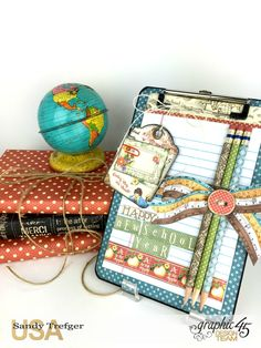 Back to School Memo Pad Clipboard, Children's Hour, Tutorial by Sandy Trefger, Product by Graphic 45, Photo 1