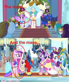 In 2nd 1 there's a crystal pony
