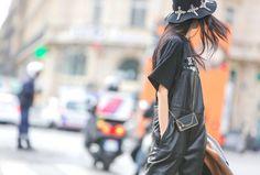 #jumpsuit #totalblack #leather