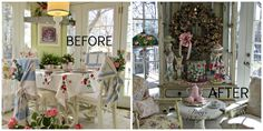 Penny's Vintage Home: Easter Decor in the Sunroom
