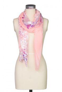Type 2 Heavenly Flowers Scarf in Pink - $18.97