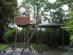 fabulous tree houses | Tree House Designs for Different Level of Age : Wood Tree House Wooden ...