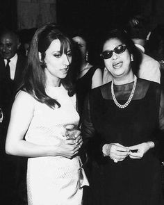 Two divas together, Fairuz & Oum Kalthoum