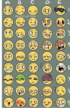 Comment me a character and an emoji! I shall do as many as a want! >:3 (Credit to the tumblr user who made this chart)