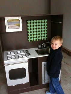 play kitchen blog.  lots of ideas from the pictures.