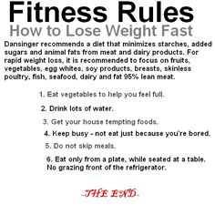 lose weight fast rules
