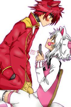Resultado de imagen para fnaf mangle y foxy anime