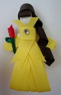 Belle Hair-clip (Ribbon Sculpture)