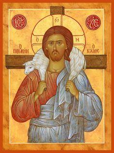 Jesus Art, Jesus Christ, Christ The Good Shepherd, Good Shepard, Roman Church, Our Lady Of Lourdes, Life Of Christ, Byzantine Icons, Religious Icons