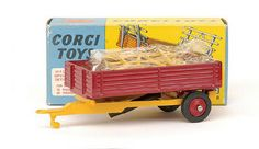 Mettoy Corgi diecast No.62 Farm Tipping Trailer 1965-72