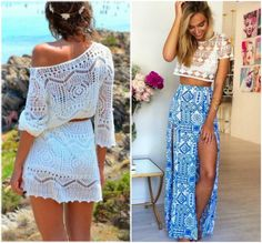 Confira dicas para montar o seu look praia no Moda que Rima. All Fashion, Boho Fashion, Fashion Looks, Womens Fashion, Boho Outfits, Cute Outfits, Fashion Outfits, Boho Dress, Dress Skirt