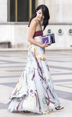 YuYu from Street Style: Maxi Dresses  In Dior