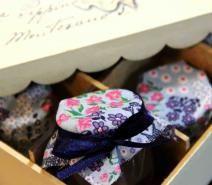 Caixa Vintage com 9 potinhos de brigadeiro gourmet - BRIGADEIRO STORE