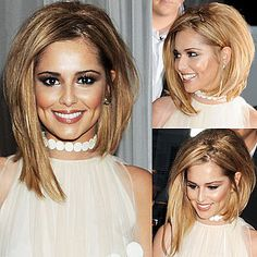 cheryl cole's assymetric bob hair