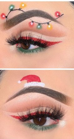Bewildering CHRISTMAS MAKEUP LOOKS! It's Very Funny and Amazing For This December! Part 30 ; christmas makeup looks; christmas makeup ideas Make - up 🌸✨fσℓℓσω Makeup Geek, Prom Makeup, Makeup Inspo, Makeup Art, Makeup Ideas, Bride Makeup, Lip Makeup, Makeup Brushes, Sexy Makeup