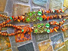 Tigers eye barefoot sandals  on Etsy, $30.00