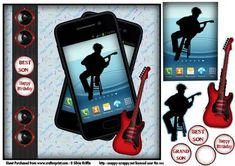 Teen Playing the Guitar in a Smartphone SBS on Craftsuprint - Add To Basket! Family Christmas, Vintage Christmas, White Teddy Bear, 3d Sheets, 3d Craft, Craft Tutorials, Handmade Cards, Rock And Roll, Cardmaking