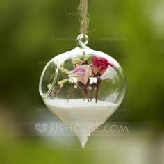 Table Centerpieces - $4.59 - Nice Hanging Glass Vase (128035750) http://jjshouse.com/Nice-Hanging-Glass-Vase-128035750-g35750