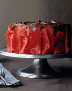 Devil's Food Cake with Flame Tuiles Recipe