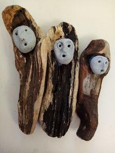 Treibholz mit Köpfen aus Knetbeton Meat, Driftwood, Play Dough