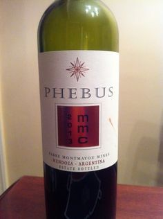 Phebus 2013 mmc (malbec 70%, merlot 15%, cabernet sauvignon 15%) - Fabre Montmayou Wines - Mendoza-Argentina - Juicy black fruits combine with dried flowers, violets and black pepper, with ripe tannins lending a soft and opulent finish. Great with chorizo sausage, all cuts of beef and chocolate.