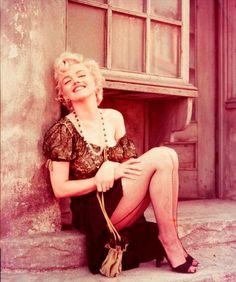 Marilyn. Hooker sitting. Photo by Milton Greene, 1956.