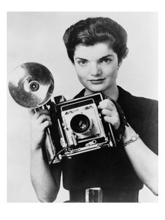 """Jacqueline Bouvier as the """"Inquiring Camera Girl"""" of the Washington Times-Herald. (1952)."""