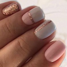 Are you looking for simple but elegant nail art designs for your nails? I have here 15 amazing pretty nail art designs you will love. Simple Gel Nails, Summer Gel Nails, Grey Gel Nails, Gold Nails, Spring Nails, Classy Gel Nails, White Sparkle Nails, Summer Vacation Nails, Vacation Nail Art