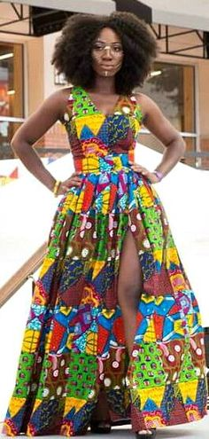 African print dresses can be styled in a plethora of ways. Ankara, Kente, & Dashiki are well known prints. See over 50 of the best African print dresses. African Dresses For Women, African Print Dresses, African Attire, African Wear, African Fashion Dresses, African Women, African Prints, Ankara Fashion, African Style