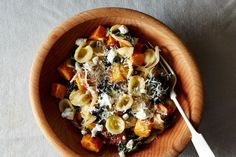 Orecchiette with Roasted Butternut Squash, Kale, and Caramelized Red Onion recipe on Food52