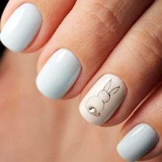 Adorable Easter Nail Art Designs You Must Try Easter nails; Egg And Bunny Nail Art Designs; Nail Art Designs, Easter Nail Designs, Easter Nail Art, Nail Designs Spring, Nails Design, Animal Nail Designs, Spring Nail Art, Spring Nails, Gel Nagel Design