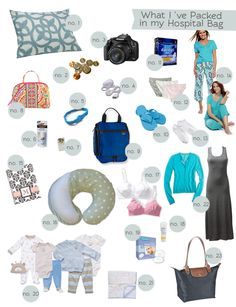 What to put in your Hospital Bag. I'm not planning on needing a hospital bag, but also a good reference of what to think ahead for having a home birth, too. Baby On The Way, Baby Kind, Our Baby, Baby Love, Baby Baby, The Babys, Hospital Bag Checklist, My Bebe, Getting Ready For Baby