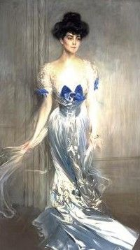 Virginia Graham Fair Vanderbilt, 1875-1935, wife of William K. Vanderbilt. painting by Giovanni Boldini